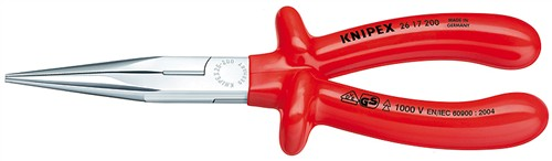 Knipex 2617200 Půlkulaté kleště s břity (rovné) 1000V