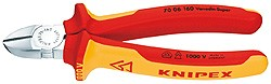 Knipex 7006125 štípací kleště boční (břit s fazetou), 1000V