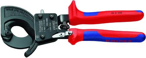 Knipex 9531250 kleště na kabely (rohatka se západkou), doprava zdarma