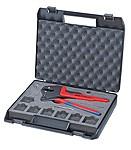 9743200 Víceúčelové lisovací kleště Knipex v praktickém kufříku (bez vyměnitelných profilů)