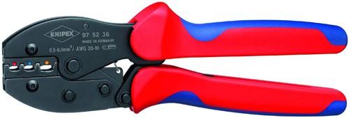 Knipex 975235 lisovací kleště na neizolované otevřené konektory, 3 hnízda
