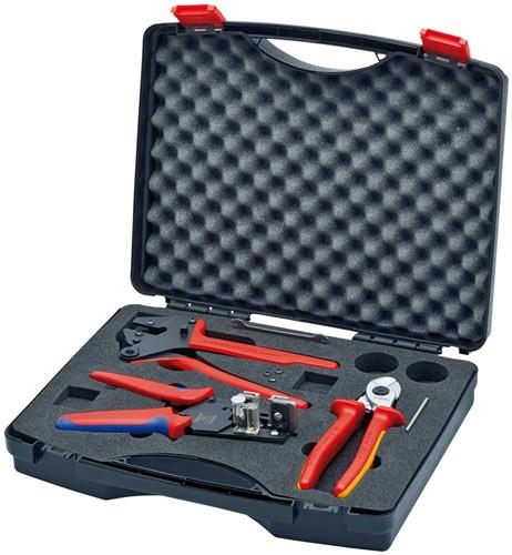 Knipex 979101 Sada nářadí pro fotovoltaiku (9516165,9743200,121211 v kufru)