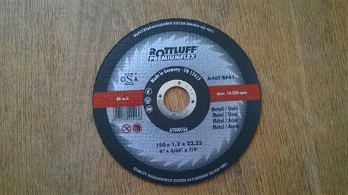 Kotouč řezný 150x1,2x22,2 mm na kov - A46T-BF Rottluff Premiumflex