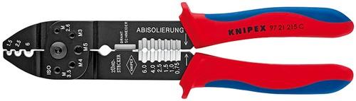 Lisovací kleště 9721215C na neizol. kabelová oka a konektory Knipex