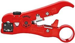 Knipex 166006SB nástroj na odizolování koaxiálních kabelů