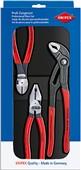 Sada nářadí Knipex 002010 (kombinačky 0201180, boční štipky 7401160, sikovky 8701250)