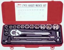 """Sada nástrčných klíčů 1/2"""" (17ks) 4618M Hans Tools"""
